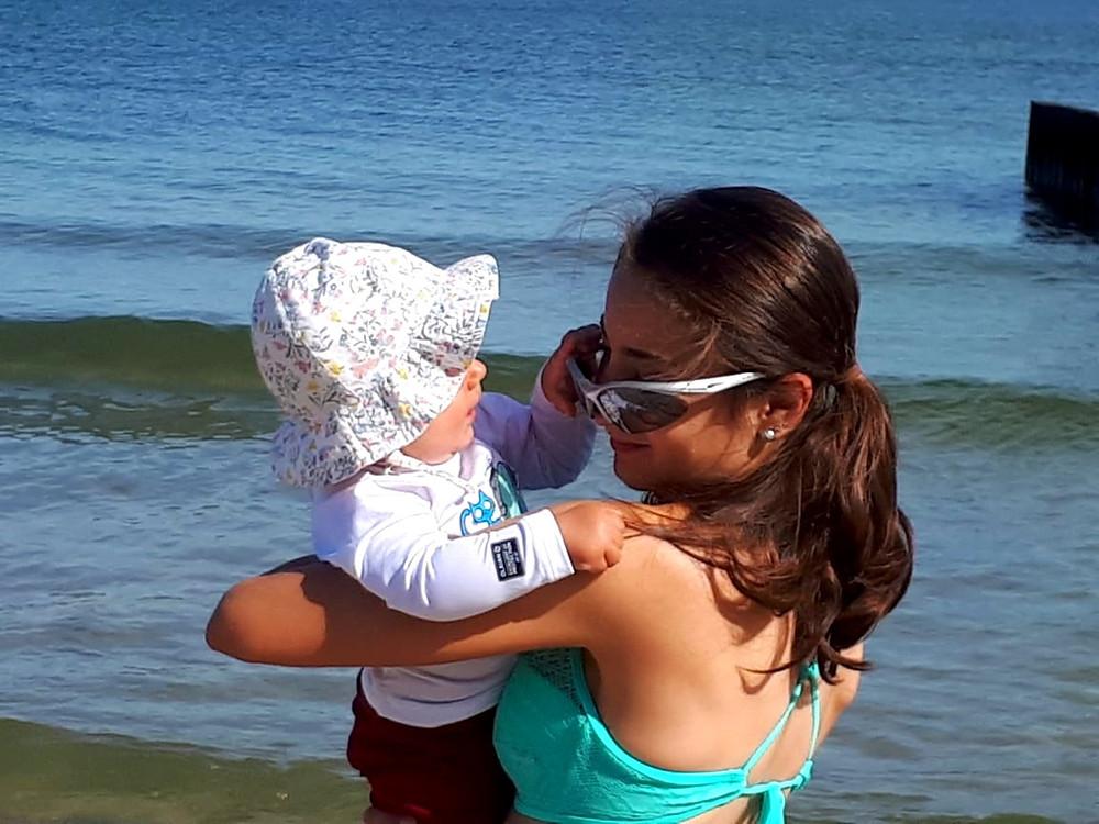 Я и Регина на море