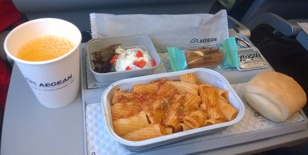 Стандартное питание от Aegan Airlines