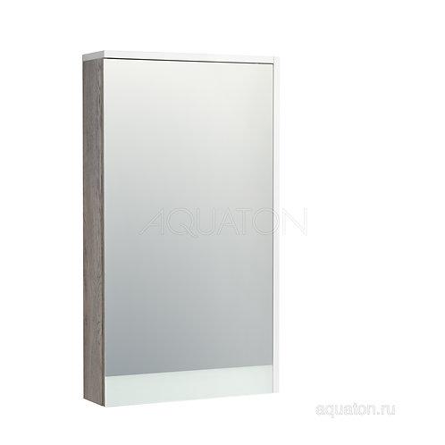 Зеркальный шкаф Aquaton Эмма белый, дуб наварра 1A221802EAD80