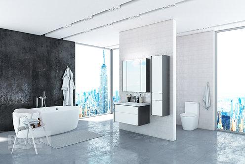 Зеркальный шкаф Roca Ronda 70 белый глянец/антрацит ZRU9302969