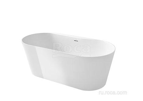Каменная ванна Stonex® Roca Raina 159х79 овальная белая 248466000