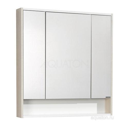 Зеркальный шкаф Aquaton Рико 80 белый, ясень фабрик 1A215302RIB90