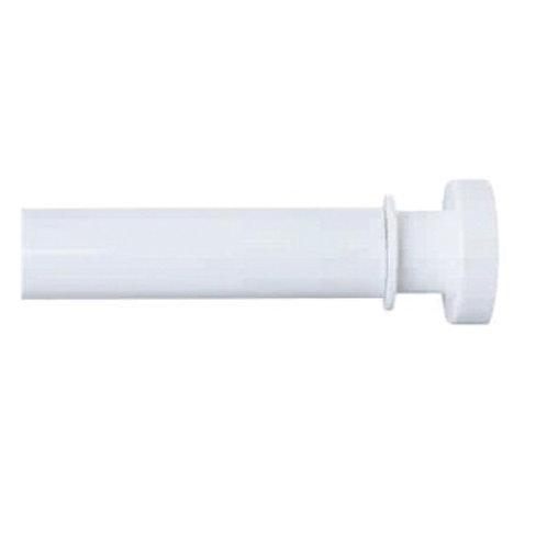 Карниз для ванной комнаты, 110-200 см, белый, IDDIS, 010A200I14