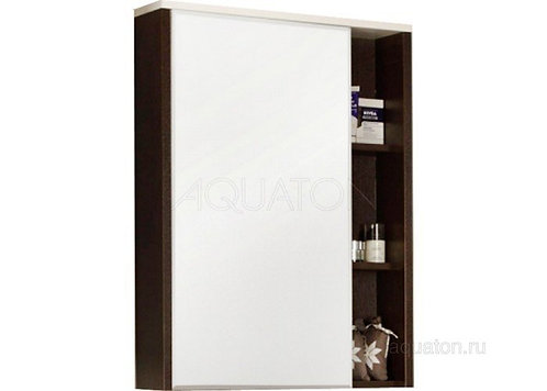 Зеркальный шкаф Aquaton Крит 60 венге 1A163202KT500