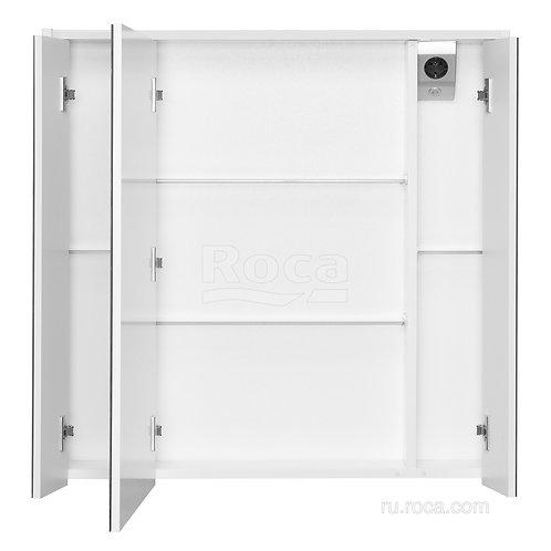 Зеркальный шкаф Roca Ronda 80 белый матовый/бетон ZRU9303009