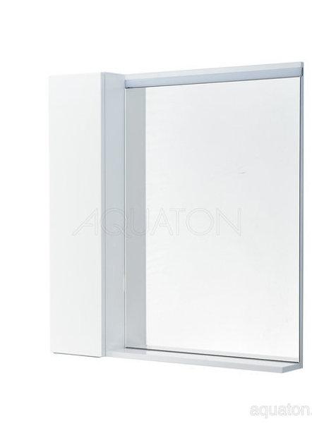 Зеркальный шкаф Aquaton Рене 80 белый, грецкий орех 1A222502NRC80