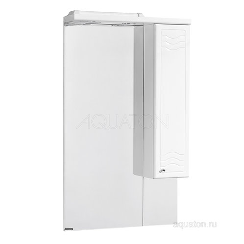 Зеркальный шкаф Aquaton Домус 65 правый белый 1A008202DO01R