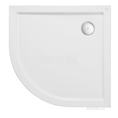 Душевой поддон Santek Палермо 90х90 четверть круга белый 1WH302478