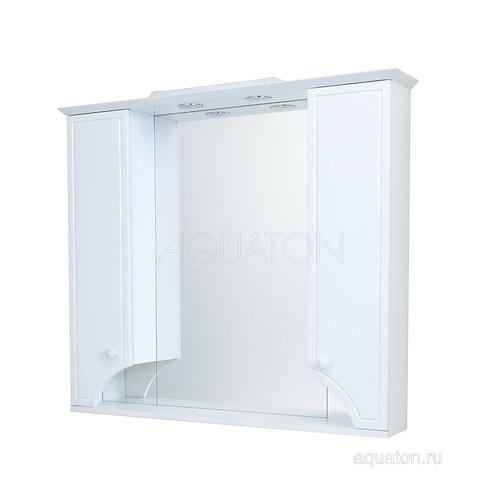 Зеркальный шкаф Aquaton Элен 95 белый 1A218602EN010