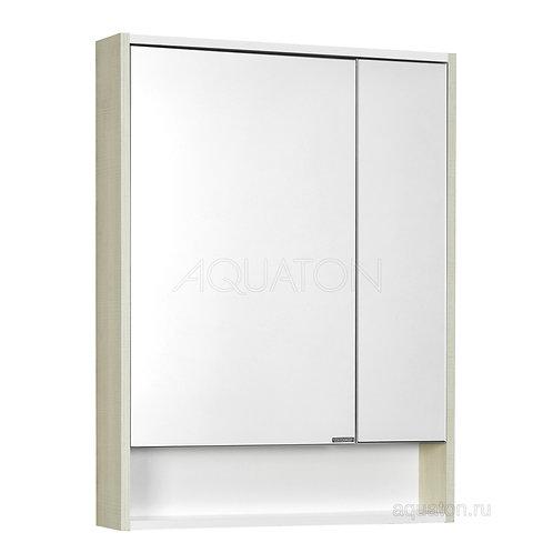 Зеркальный шкаф Aquaton Рико 65 белый, ясень фабрик 1A215202RIB90