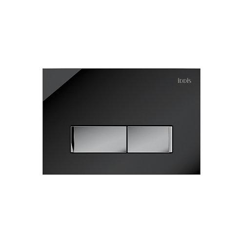 Клавиша смыва, универсальная, черное стекло, Uniglass, 010, IDDIS, UNG10GBi77
