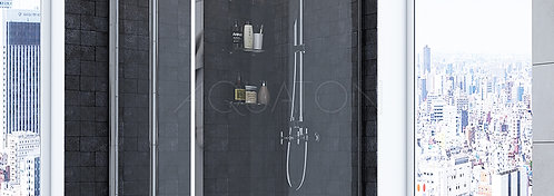 Душевое ограждение Aquaton Prima квадратное 100х100х190 1AX013SSXX000