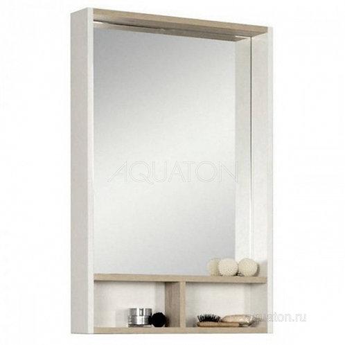 Зеркало Aquaton Йорк 55 белый, ясень фабрик 1A173202YOAV0