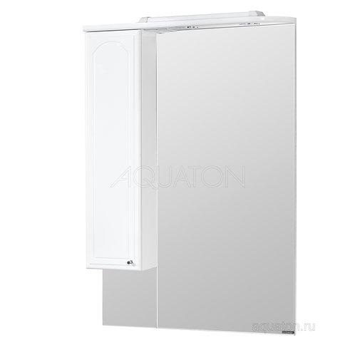 Зеркальный шкаф Aquaton Майами 75 левый белый 1A047502MM01L