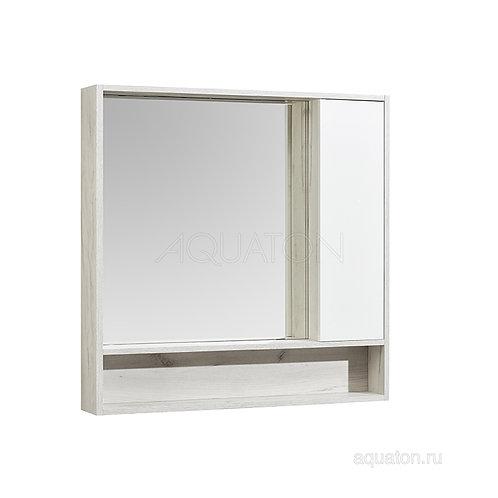 Зеркальный шкаф Aquaton Флай 100 белый, дуб крафт 1A237802FAX10