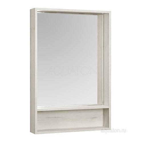 Зеркальный шкаф Aquaton Флай 60 белый, дуб крафт 1A237602FA860