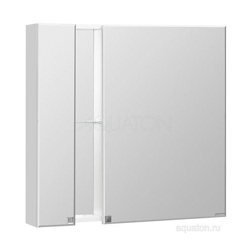 Зеркальный шкаф Aquaton Марко 80 белый 1A181102MO010