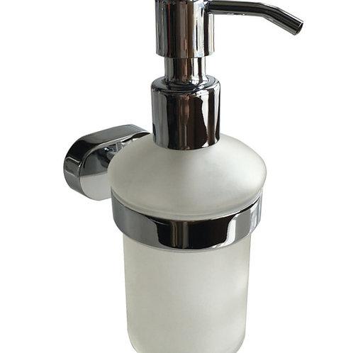 Дозатор для жидкого мыла, матовое стекло, сплав металлов, Solomon, Milardo, SOLS