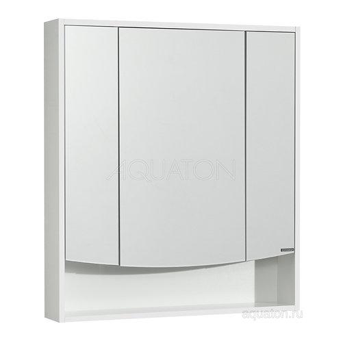Зеркальный шкаф Aquaton Инфинити 76 белый 1A192102IF010