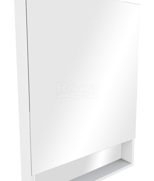 Зеркальный шкаф Roca The Gap 80 белый глянец ZRU9302887
