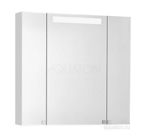 Зеркальный шкаф Aquaton Мадрид 80 М со светильником белый 1A175202MA010