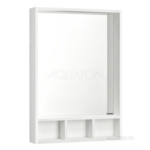 Зеркало Aquaton Йорк 60 белый, выбеленное дерево 1A170102YOAY0
