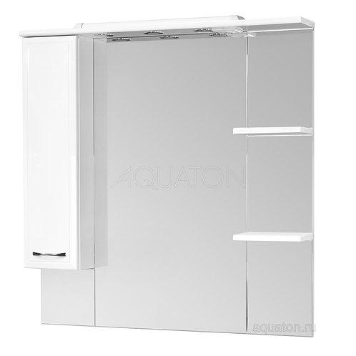 Зеркальный шкаф Aquaton Эмили 105 левый белый 1A008602EM01L