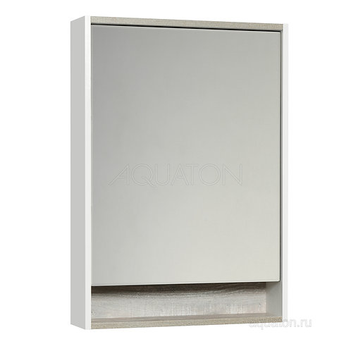 Зеркальный шкаф Aquaton Капри 60 бетон пайн 1A230302KPDA0