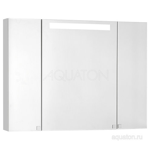 Зеркальный шкаф Aquaton Мадрид 100 со светильником белый 1A111602MA010
