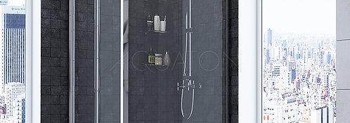 Душевое ограждение Aquaton Prima квадратное 90х90х190 1AX012SSXX000