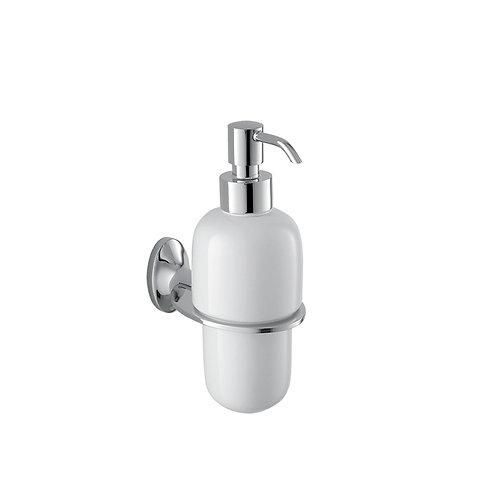 Дозатор для жидкого мыла, керамика, латунь, керамика, Leaf, IDDIS, LEASBC0I46