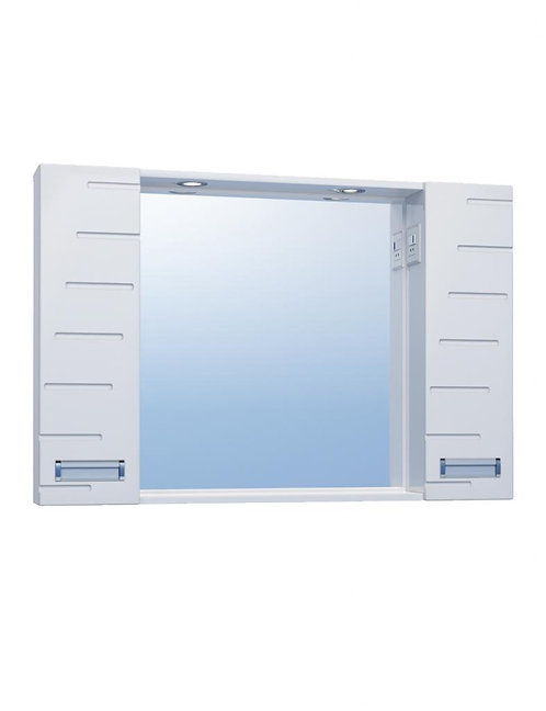 DIANA 100 Зеркало с 2 шкафами с св.