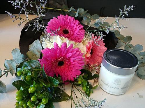 Bouquet avec chandelle