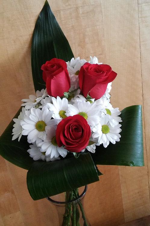 Bouquet classique trois roses