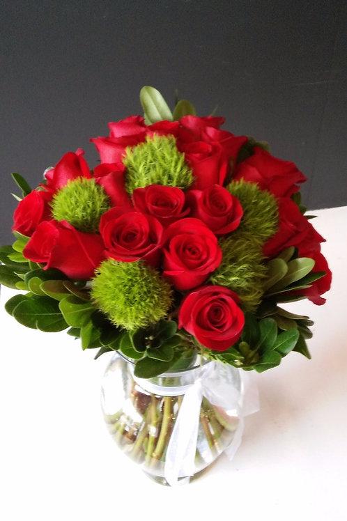 Roses & Dianthus vert