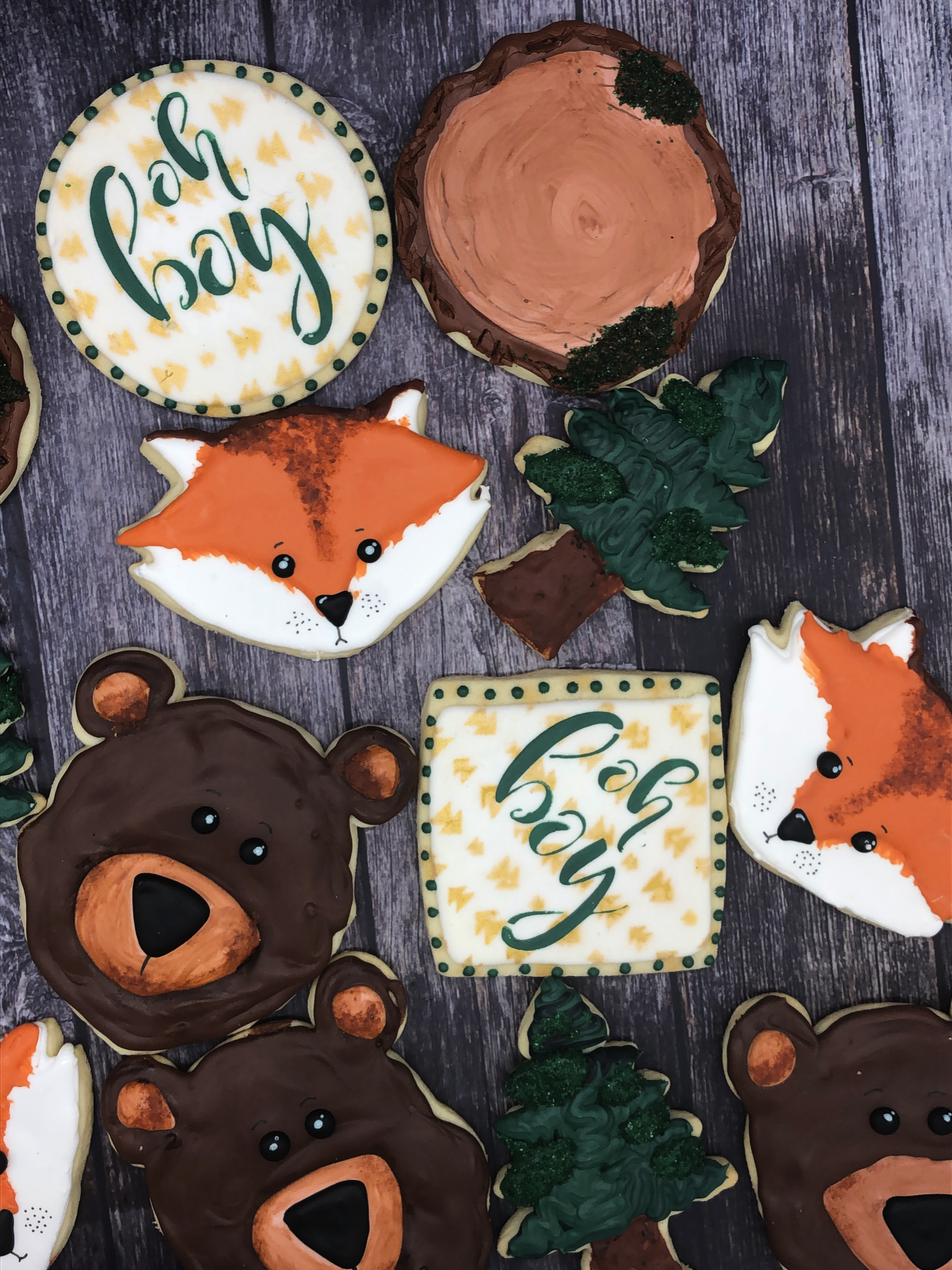 Woodland Shower Cookies