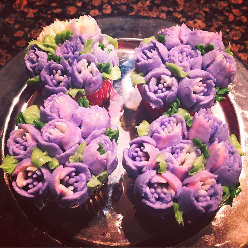 Flower Cupcakes Purple