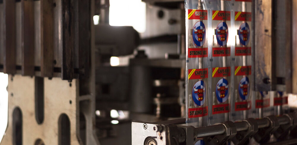 6 x Multi-track FFS (Form Fill Seal) machines with over 300,000 sachets produced every 8 hours.