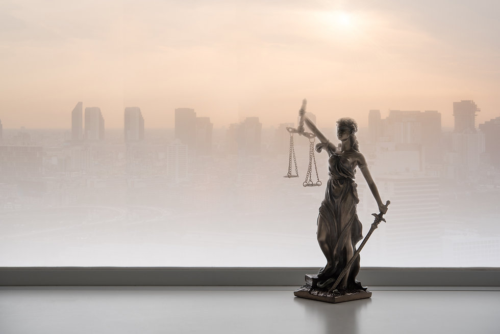 Justice law legal concept. Statue of jus