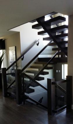 Single Stringer Beam Stairs