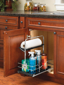 Under sink cleaning caddy