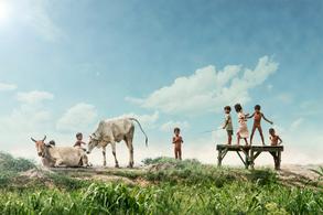 Niños en Cambodia - Floating Village