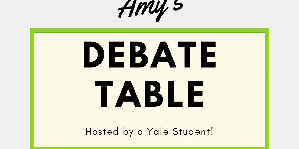 Amy's Debate Table
