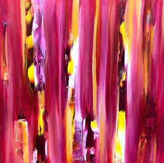 Lou Wildish Wildbush Art Pink abstract l