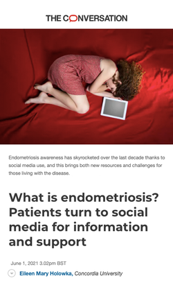 What is Endometriosis? Patients Turn to Social Media for Information and Support.