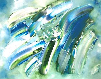 Wildbush Art blue and green abstract (2)