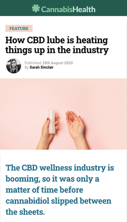 How CBD Lube is Heating Things Up in the Industry.