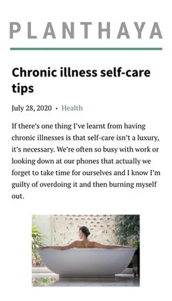 Chronic Illness Self Care Tips