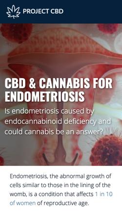 CBD & Cannabis For Endometriosis