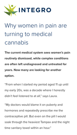 Why Women in Pain are Turning to Medical Cannabis